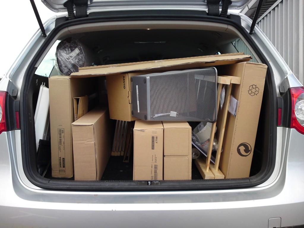 Transport zakupów, mebli i sprzętów